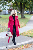 crimson Make Me Chic coat - black rock and republic boots