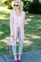 nude free people necklace - heather gray Refuge jeans - peach balenciaga bag