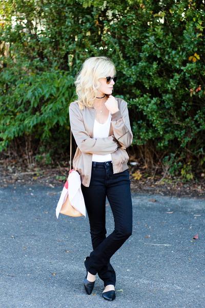 white Odeme scarf - black Jag Jeans jeans