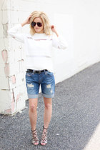 nude Ms Littles Bag bag - navy Jag Jeans shorts - crimson sunglasses