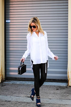 white Nasty Gal scarf - black Topshop bag - black christian dior sunglasses