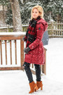 Tawny-beast-fashion-boots-ruby-red-bernardo-jacket-ruby-red-lanvin-scarf