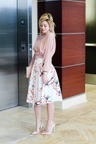 white Make Me Chic skirt - light pink Make Me Chic top