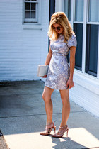 periwinkle Nasty Gal dress - heather gray Prima Donna bag