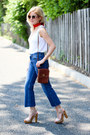 Navy-asos-jeans-red-forever-21-scarf-dark-brown-coach-bag