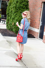 Blue-silver-jeans-dress-red-31-phillip-lim-bag-red-ray-ban-sunglasses