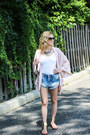 Light-blue-somedays-lovin-shorts-light-pink-asos-cardigan