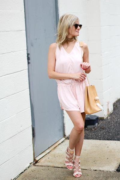 camel Ms Littles Bag bag - light pink Forever 21 romper