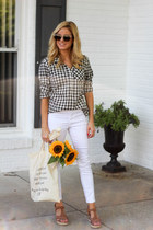 north detail bag - merona shirt - ray-ban sunglasses - Kenneth Cole wedges