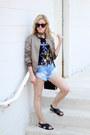 Dark-khaki-missguided-jacket-black-topshop-bag-blue-somedays-lovin-shorts
