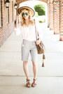 White-jag-jeans-shirt-dark-khaki-see-by-chloé-bag-silver-jag-jeans-shorts