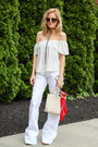 White-silver-jeans-jeans-red-forever-21-scarf-white-street-level-bag