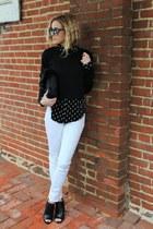 black Topshop shirt - black Topshop shirt - white Kiind Of jeans