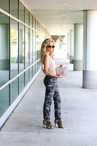 forest green Jolt pants - light pink Rebecca Minkoff bag