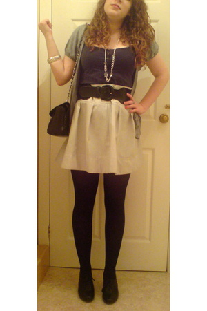 Dorothy Perkins skirt - Random vest - Chanel purse - new look shoes