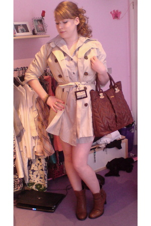 Lime coat - Next Clearance shirt - Next Clearance shoes - Miu Miu purse