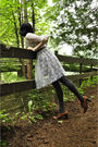 White-handmade-dress-gray-joe-fresh-style-tights-brown-naturalizer-shoes-s