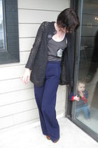 gray Industry cardigan - brown naturalizer shoes - gray born famous shirt