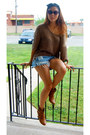 Nomi-boots-tan-knit-tbabaton-sweater-studded-vintage-levis-shorts