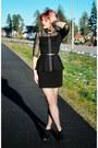 Black-peplum-mango-shirt-black-studded-thrifted-belt-black-h-m-skirt