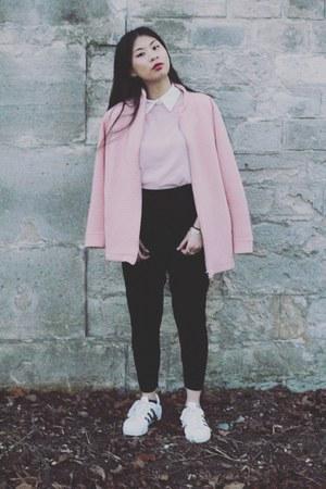 pink Monki jacket - light pink Fashion Union shirt - black asos pants