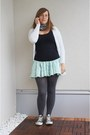 Charcoal-gray-primark-tights-gray-star-print-pieces-scarf