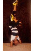 nike shoes - American Apparel leggings - I MADE IT shirt - Forever 21 earrings