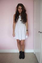 white dress Topshop dress