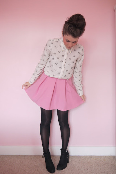 Zara shirt - pink Topshop skirt