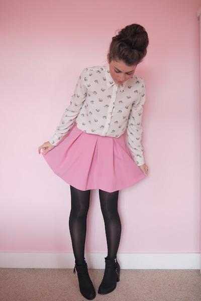 Zara shirt - pink Topshop skirt