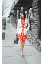 H&M blazer - Forever 21 dress - BCBG bag