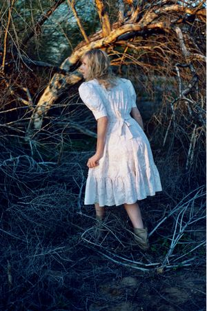 white Country Romance dress