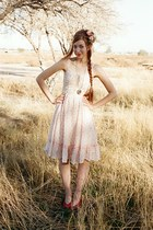 light pink unknown dress - pink Handmade by KittenPaws hat - silver Forever 21 n
