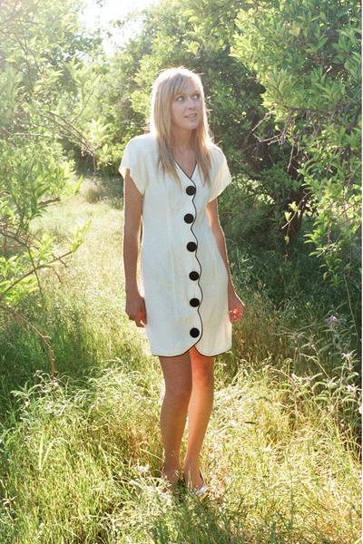 white LA Bell dress