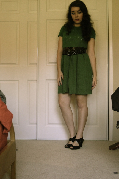H&M dress - vintage belt - Marshalls shoes
