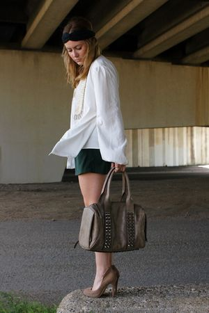 vintage shorts - need supply co bag - BCBG shoes