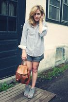Ralph Lauren blouse - Forever21 shorts - Jeffrey Campbell shoes - vintage purse