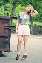 Forever 21 necklace - Tommy Hilfiger shorts - Guess shoes