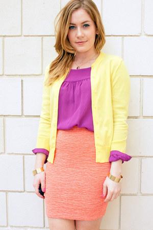 vintage skirt - Forever 21 shirt - JCrew cardigan - H&M bracelet