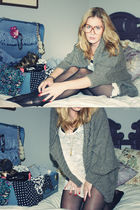 abercrombie and fitch sweater - Forever 21 dress - American Apparel tights