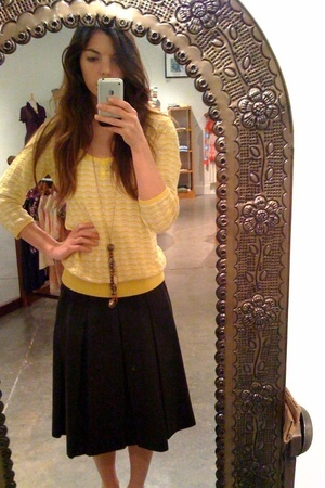 vintage skirt - Old Navy sweater - I made it necklace - American Apparel shirt -