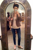 Anthropologie jacket - cameo top - forever 21 jeans - Target shoes - vintage nec