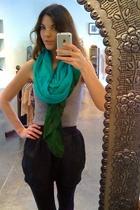 shimmer & bliss scarf - Hanes top - American Apparel skirt
