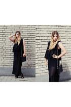 black New Yorker top - black maxi skirt Sinsay skirt