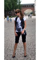 black Oasis vest - white no brand t-shirt - black Mexx pants - black Aldo shoes