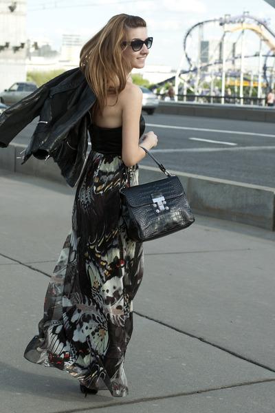 black karen millen shoes - black karen millen dress - black karen millen jacket