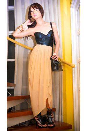 Glitterati intimate - Glitterati skirt - Forever 21 shoes - YSL bag