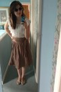 Atmosphere-sunglasses-atmosphere-flats-thrifted-skirt-atmosphere-blouse