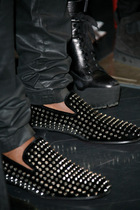black Christian Louboutin shoes
