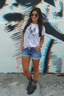 Just-fab-boots-zara-shirt-forever-21-shorts
